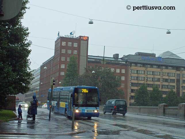 Pitkäsilta en Helsinki, entre Kaisaniemi y Hakaniemi