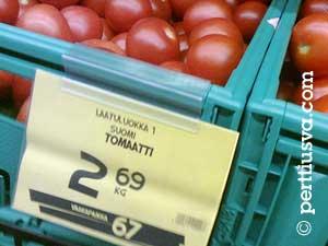 El precio de tomate: 2,69 por kilo